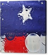 Abstract Stars And Stripes Acrylic Print