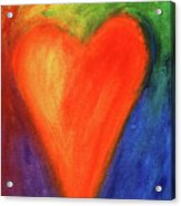Abstract Orange Heart 1 Acrylic Print