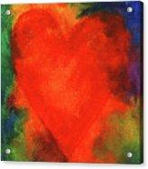 Abstract Orange Heart 2 Acrylic Print