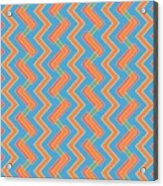 Abstract Orange, Red And Cyan Pattern For Home Decoration Acrylic Print