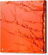 Abstract Orange Acrylic Print