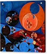 Abstract Painting - Dark Midnight Blue Acrylic Print
