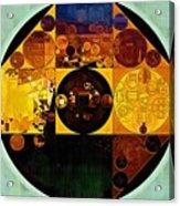 Abstract Painting - Gamboge Acrylic Print