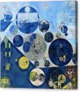 Abstract Painting - Kashmir Blue Acrylic Print