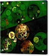 Abstract Painting - Lincoln Green Acrylic Print