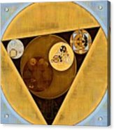 Abstract Painting - Satin Sheen Gold Acrylic Print