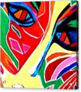 Abstract Painting - Woman Of Colors Acrylic Print