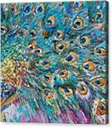 Abstract Peacock Acrylic Print