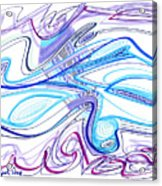 Abstract Pen Drawing Forty-two Acrylic Print