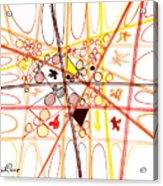 Abstract Pen Drawing Three Acrylic Print