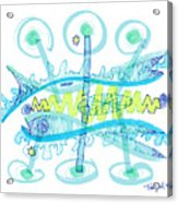 Abstract Pen Drawing Twenty-five Acrylic Print