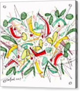 Abstract Pen Drawing Twenty-two Acrylic Print