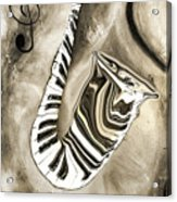 Piano Keys In A Saxophone 3 - Music In Motion Acrylic Print