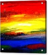 Abstract Rainbow And Sunset Acrylic Print