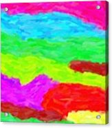 Abstract Rainbow Art By Adam Asar 3 Acrylic Print