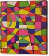 Abstract Rainbow Of Color Acrylic Print