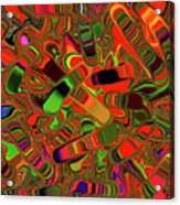 Abstract Rainbow Slider Explosion Acrylic Print
