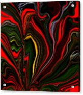 Abstract- Red Flower Garden Acrylic Print