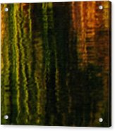 Abstract Reeds Triptych Bottom Acrylic Print