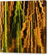 Abstract Reeds Triptych Middle Acrylic Print