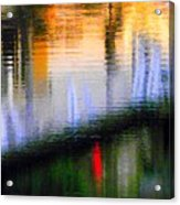 Abstract Reflection In Water 02 Acrylic Print