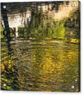 Abstract River Reflection Acrylic Print