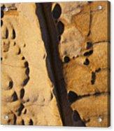 Abstract Rock With Diagonal Line Acrylic Print