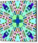 Abstract Seamless Pattern  - Blue Green Purple Pink White Acrylic Print