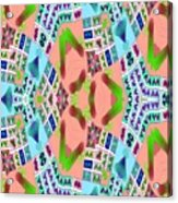 Abstract Seamless Pattern - Blue Pink Green Purple Acrylic Print