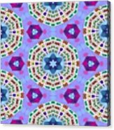 Abstract Seamless Pattern  - Blue Purple Pink Violet Lilac Orange Green Acrylic Print