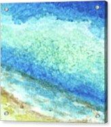 Abstract Seascape Beach Painting A1 Acrylic Print