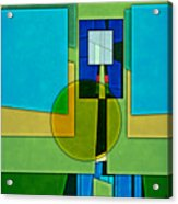 Abstract Shapes Color Two Acrylic Print by Gary Grayson