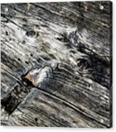 Abstract Shapes On An Old Weathered Wooden Board Acrylic Print