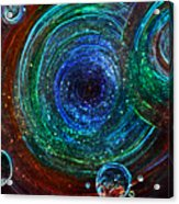 Abstract Space Art. Sparkling Antimatter Acrylic Print