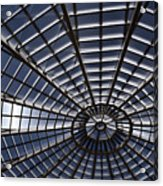 Abstract Spiderweb View Of A Central Tower Skylight At The World Acrylic Print