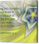 Abstract Star Deuteronomy 31 V 6 Acrylic Print