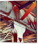 Grunge Steel Beam Acrylic Print
