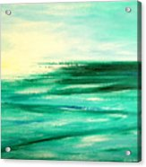 Abstract Sunset In Blue And Green Acrylic Print