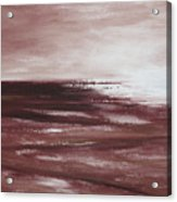 Abstract Sunset In Brown Reds Acrylic Print