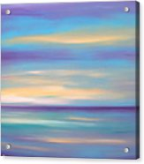 Abstract Sunset In Purple Blue And Yellow Acrylic Print