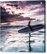 Abstract Surfer Acrylic Print