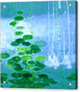 Abstract Symphony In Blue And Green Acrylic Print