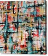 Abstract Teal Crosses Acrylic Print
