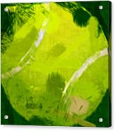 Abstract Tennis Ball Acrylic Print by David G Paul