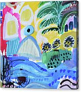 Abstract Tropical Landscape Acrylic Print
