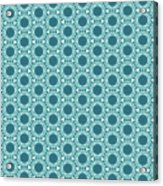 Abstract Turquoise Pattern 2 Acrylic Print