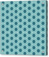 Abstract Turquoise Pattern 3 Acrylic Print