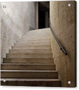 Abstract View Of Stone Curved Staircase At The World War I Monum Acrylic Print