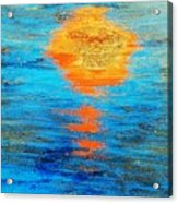 Abstract Watery Sunset Acrylic Print