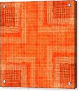 Abstract Window On Orange Wall Acrylic Print